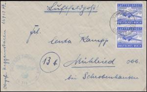 Feldpost 1A Flugzeug Postfach 16710 Brief TURKA/GALLIZIEN 19.4.41 nach Mühlried
