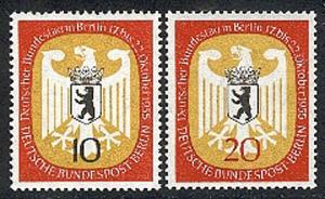 129-130 Deutscher Bundestag 1955 - Satz **