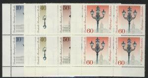 603-606 Straßenlaternen 1979, E-Vbl u.l. Satz **