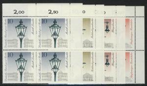 603-606 Straßenlaternen 1979, E-Vbl o.r. Satz **