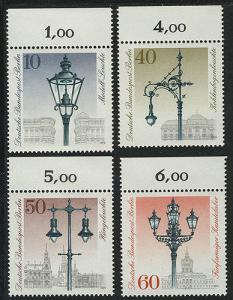 603-606 Straßenlaternen 1979, Oberrand, Satz **