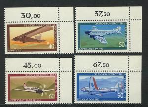 592-595 Jugend Luftfahrt 1979, Ecke o.r. Satz **