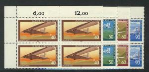 592-595 Jugend Luftfahrt 1979, E-Vbl o.l. Satz **