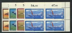 592-595 Jugend Luftfahrt 1979, E-Vbl o.r. Satz **