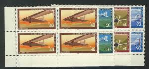 592-595 Jugend Luftfahrt 1979, E-Vbl u.l. Satz **