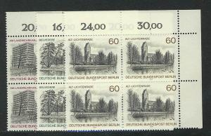 578-580 Berlin-Ansichten 1978, E-Vbl. o.r. Satz **