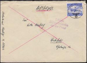 Feldpost Luftfeldpost 1A Brief 13.1.43 3zeiler Schickt Illustrierte an die Front
