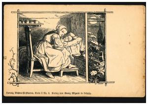 Künstler-Ansichtskarte Ludwig-Richter-Postkarte: Gute Nacht!, befördert Zensur