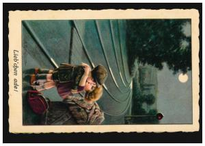 Künstler-Ansichtskarte Aurelio Bertiglia: Lieb'chen ade! MÜNCHEN 13.2.1926