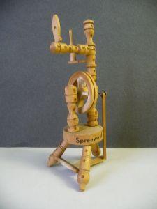 Miniatur Spinnrad / Andenken Souvenir Spreewald