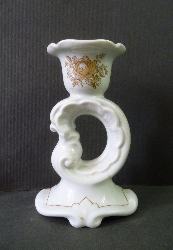 Kerzenständer Kerzenhalter barocke Form / Weimar Porzellan