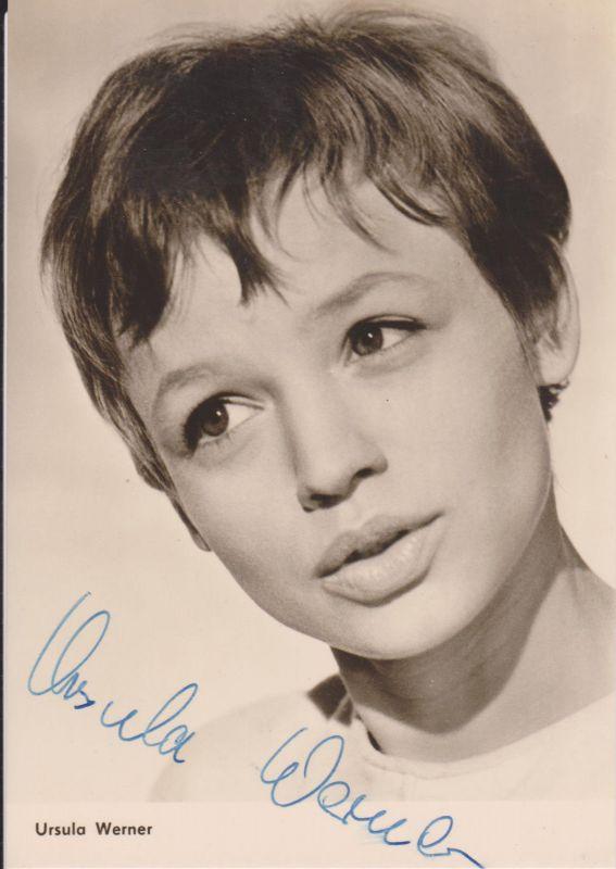 Autogrammkarte Ursula Werner / Schauspielerin DDR Foto signiert 1967