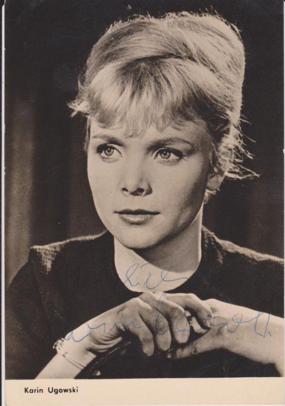 Autogrammkarte Karin Ugowski / Schauspielerin DDR DEFA Foto signiert 1964