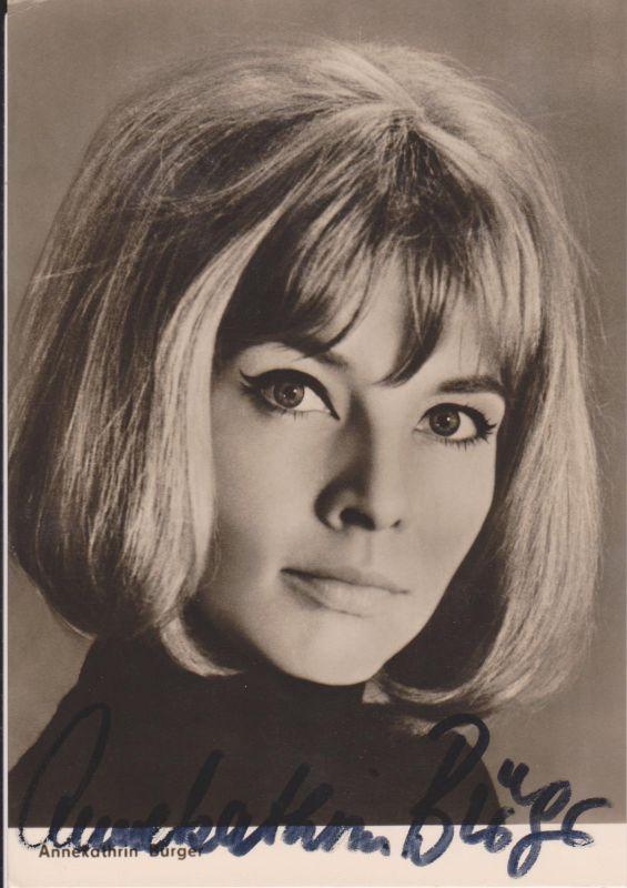 Autogrammkarte Annekathrin Bürger / Schauspielerin DDR Foto signiert 1966