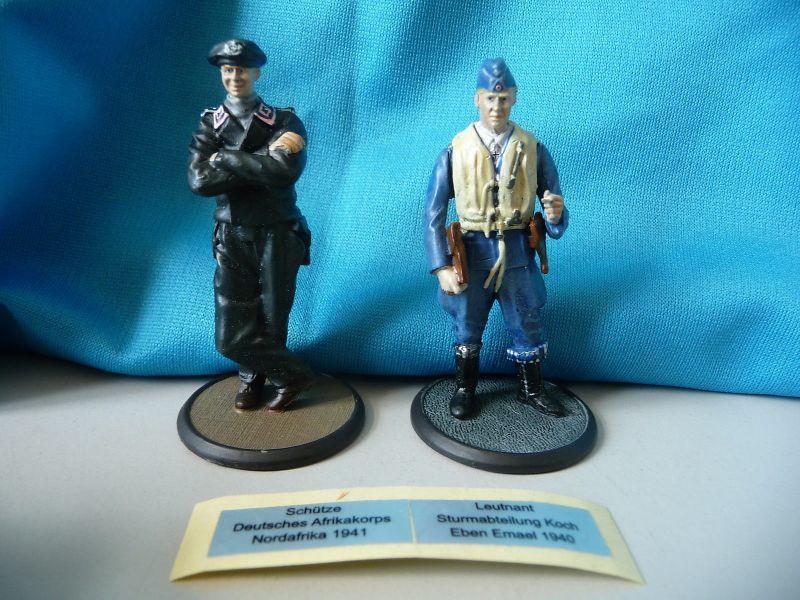 2 Figuren Soldaten Wehrmacht Schütze Afrikakorps Sturmabt. Koch / Editions Atlas