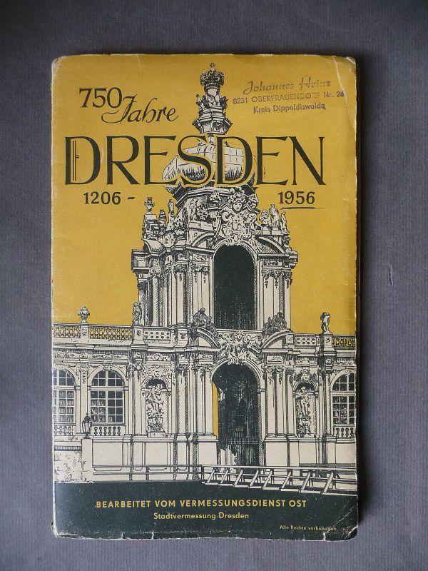 Alter Stadtplan Dresden 1956