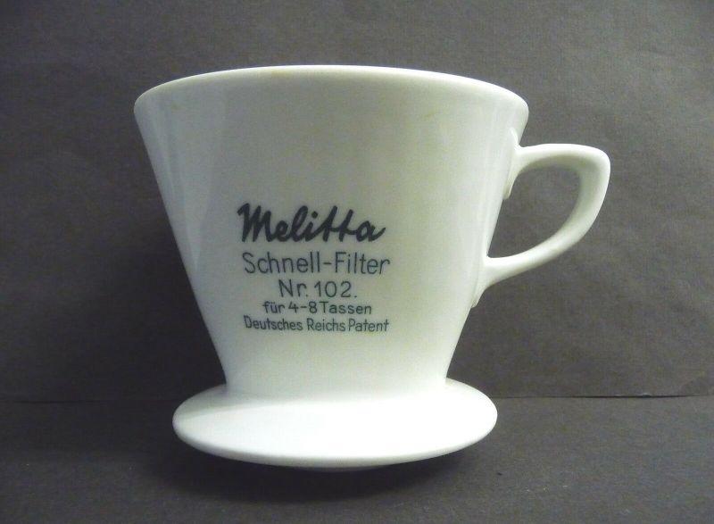 Kaffeefilter Schnellfilter Melitta Nr.102 DRP Porzellan