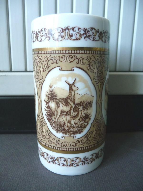 Porzellanbecher mit Jagdmotiven / Wallendorf Porzellan
