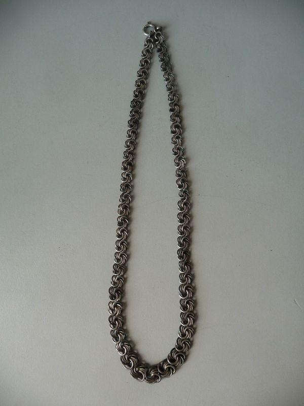 Alte Halskette Schmuckkette Metallglieder Modeschmuck
