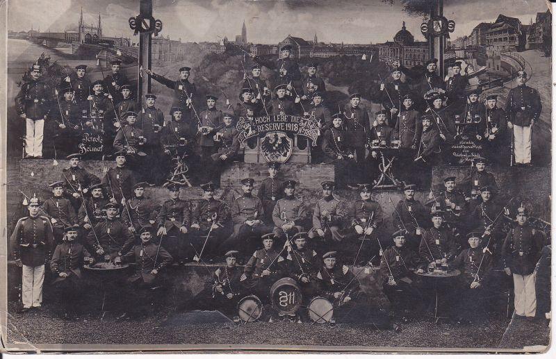 Orig. Foto Postkarte Soldaten Reservisten Inf. Regt. 132 / Strassburg 1913