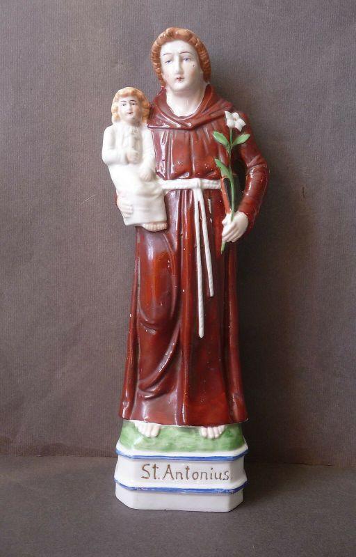 Porzellanfigur Heiliger Antonius von Padua Porzellan 28 cm