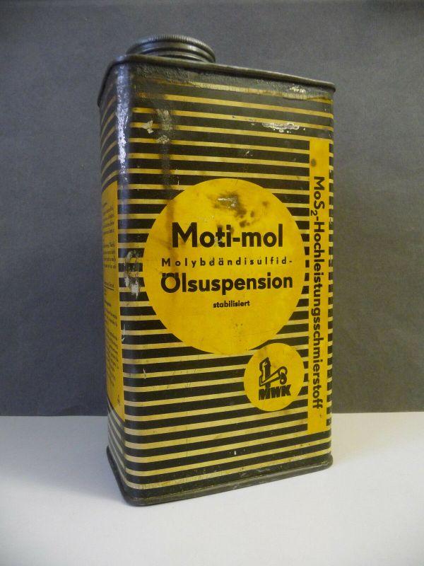 Alte Blechdose Öldose Motimol Ölsuspension Schmierstoff