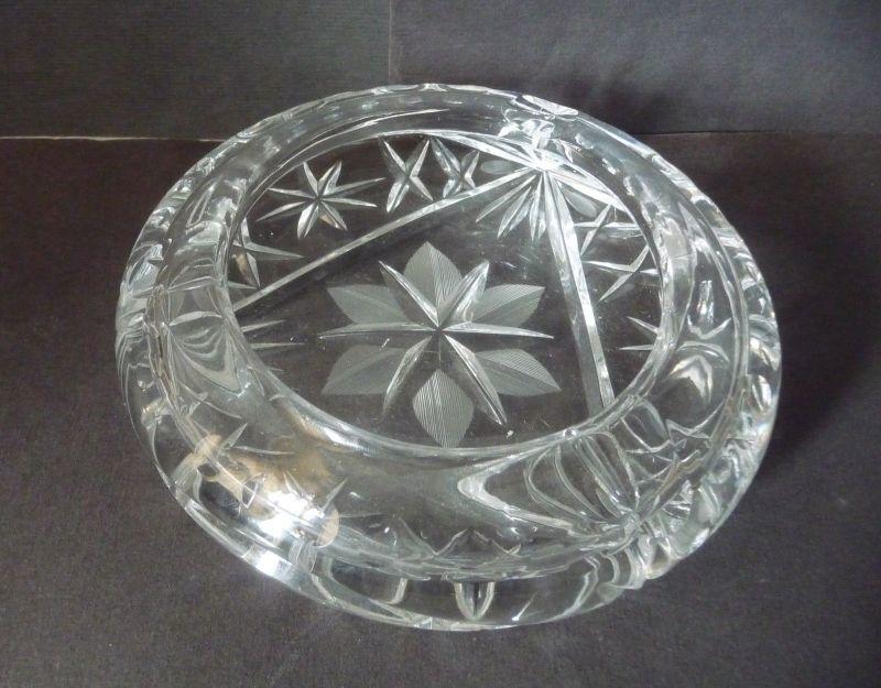 Schöner Aschenbecher Glas Kristall rund
