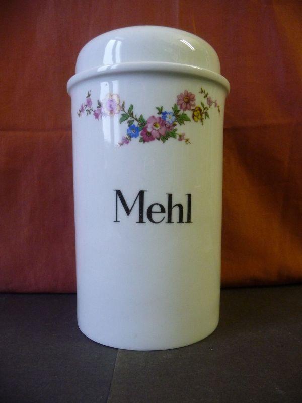 Vorratsgefäß Dose Deckeldose Mehl / Colditz Porzellan DDR