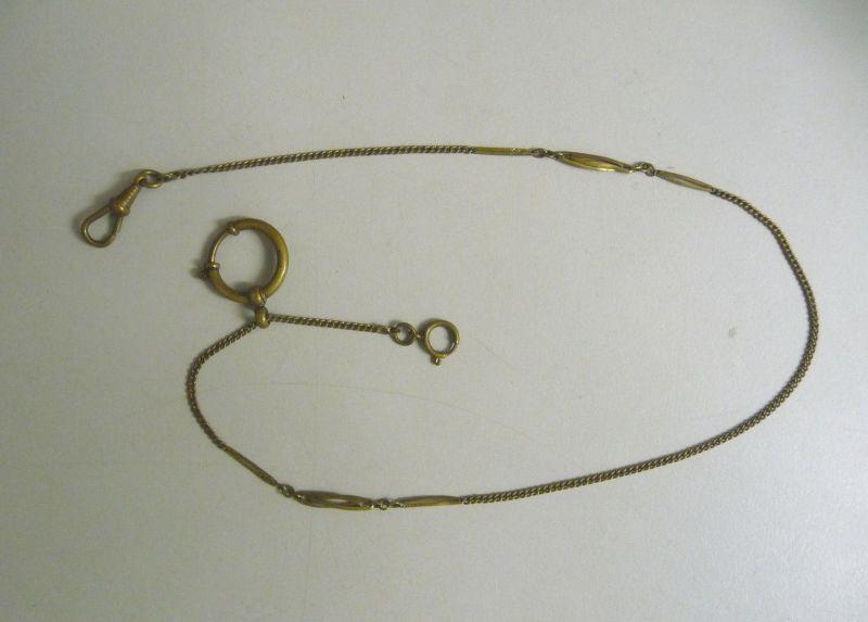 Schöne  antike filigrane Uhrenkette ca. 42 cm