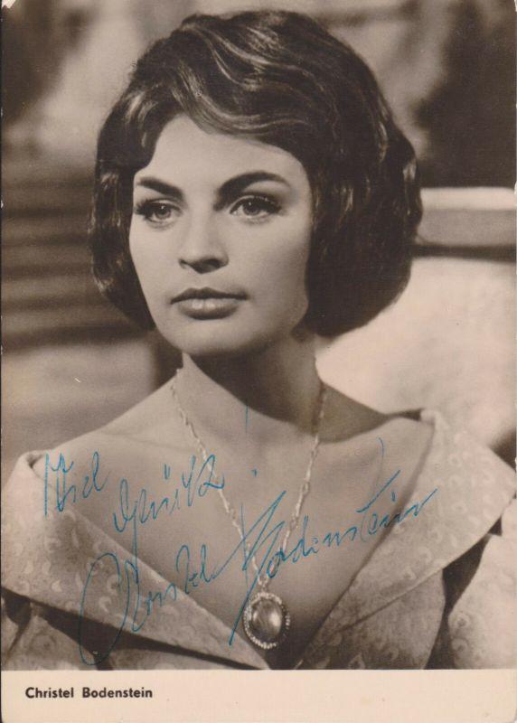 Autogrammkarte Christel Bodenstein / Schauspielerin DDR Foto handsigniert 1964