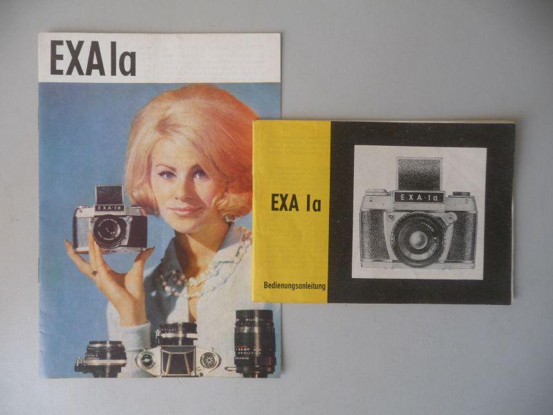 Bedienungsanleitung + Reklameprospekt / Spiegelreflexkamera EXA Ia Pentacon