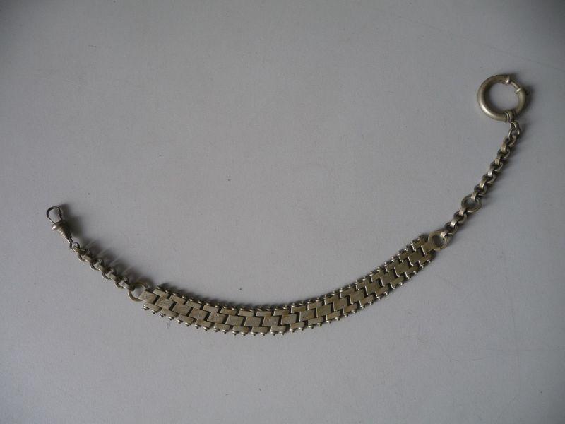 Uhrenkette Uhrenband Eisen 30 cm vernickelt