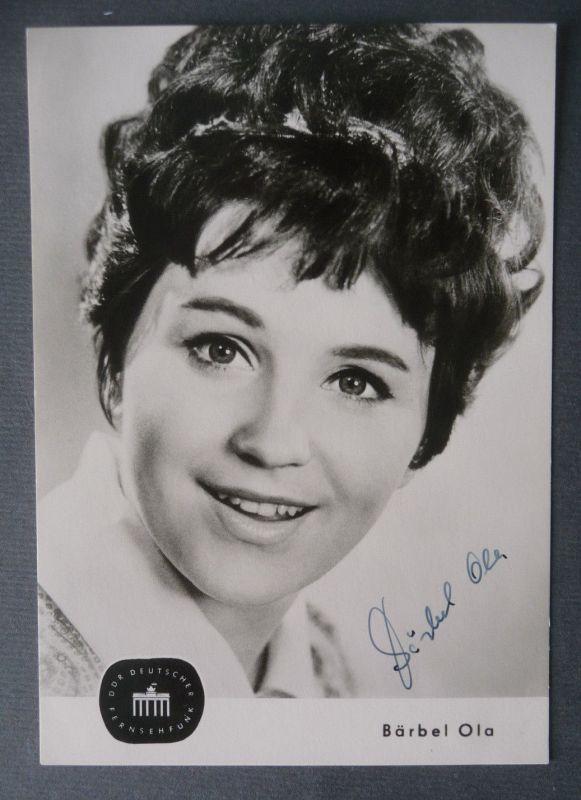 Autogrammkarte Bärbel Ola / Schauspielerin DDR handsigniert