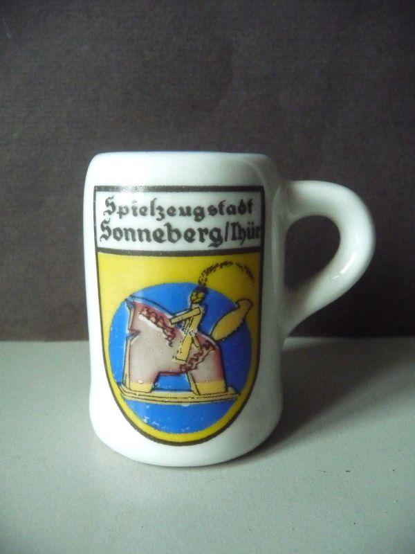 Andenken-Krüglein Souvenir Sonneberg Thüringen / Kahla Porzellan