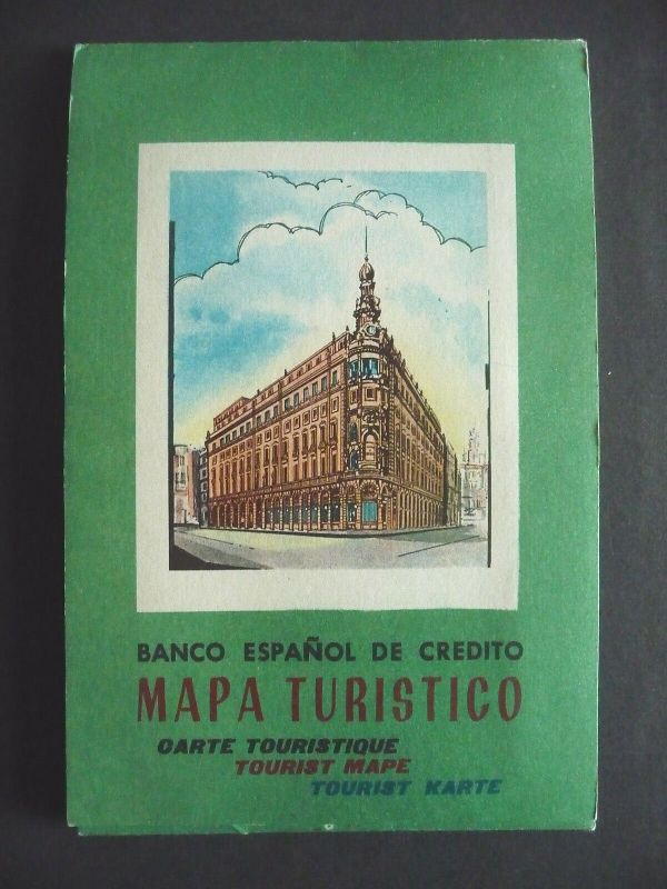 Landkarte Touristenkarte Spanien / Banco Espanol ca. 1960