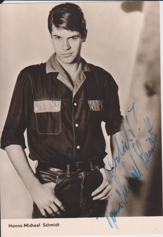 Autogrammkarte Hanns Michael Schmidt / Schauspieler DDR Foto handsigniert 1967