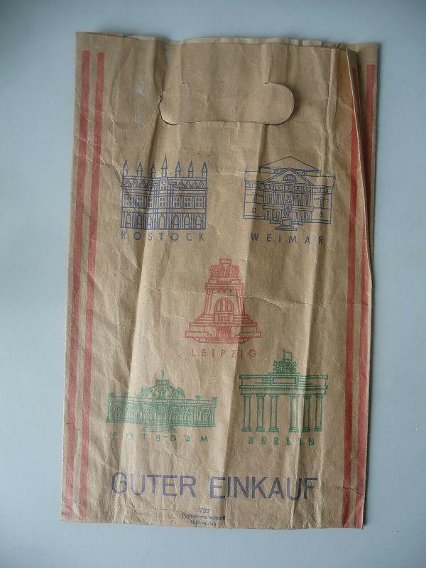 Papiertüte Guter Einkauf DDR Städte