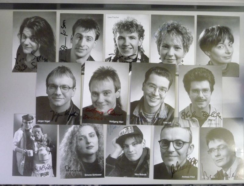 14 Autogrammkarten Radio PSR Sachsen Moderatoren