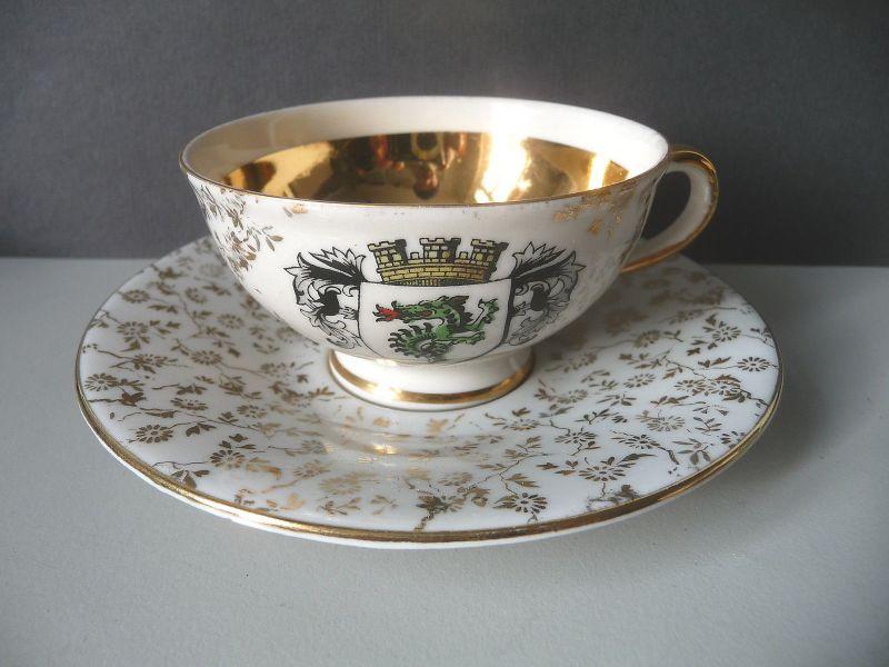 Andenken-Tasse Souvenir Murnau Drache Porzellan