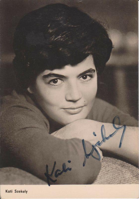 Autogrammkarte Kati Szekely / Schauspielerin DDR DEFA Foto signiert 1963