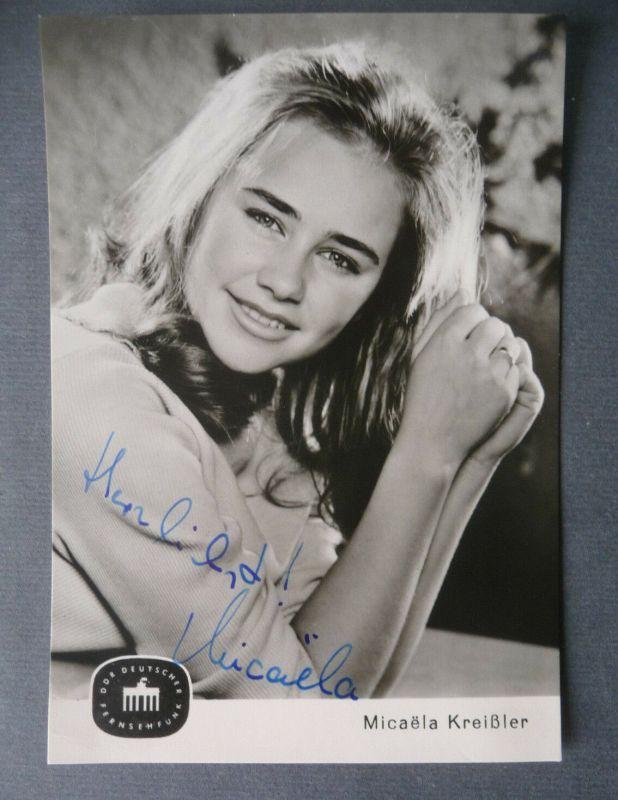 Autogrammkarte Micaëla Kreißler / Schauspielerin DDR handsigniert