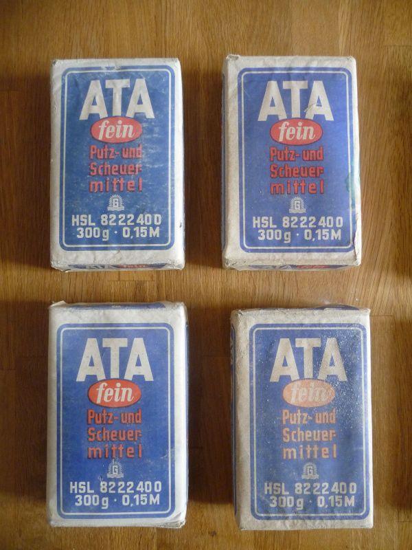 4 x ATA Scheuermittel Putzmittel DDR Originalpackung (III)