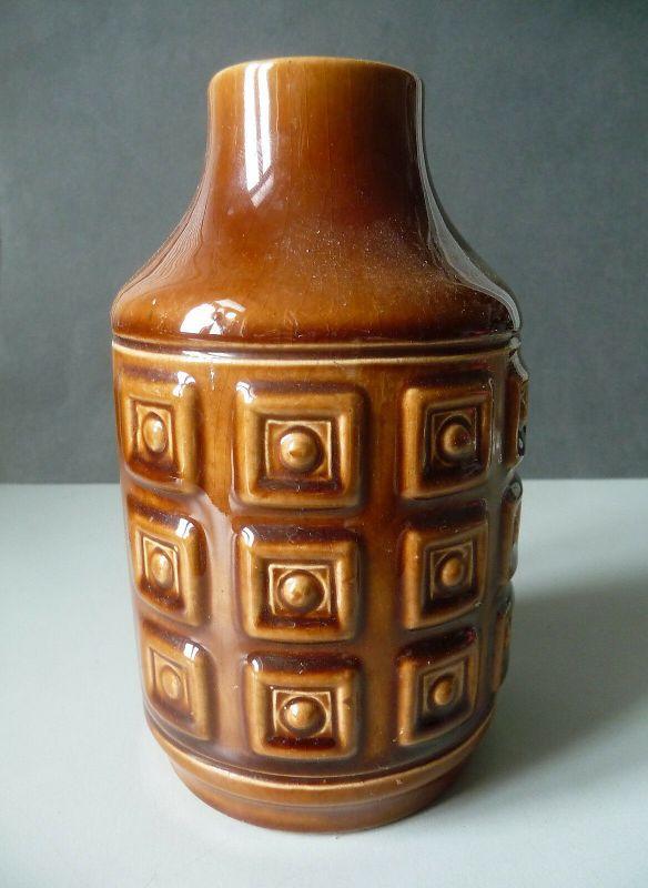 Braune Vase DDR / Gräfenroda Keramik