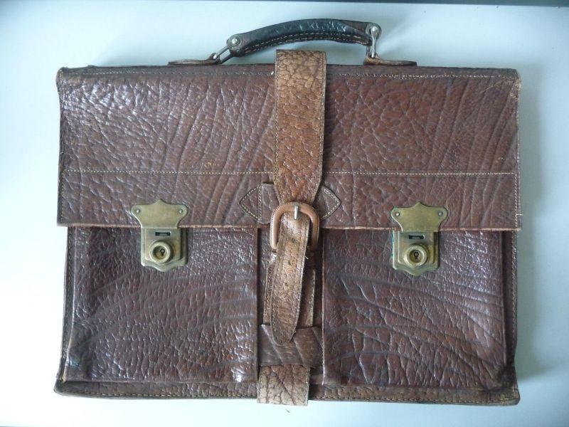 Ledertasche Aktentasche für Herren braun Vintage