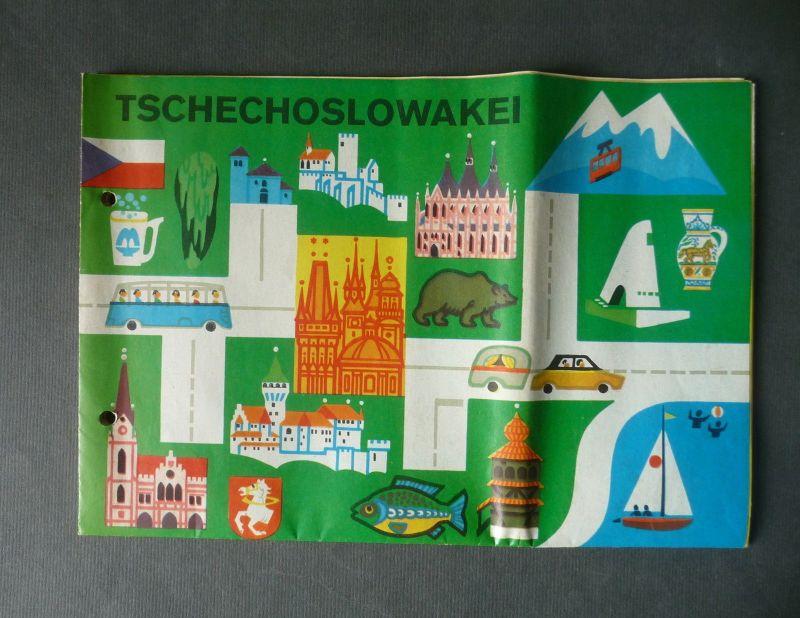 Landkarte Tschechoslowakei Touristenkarte ca. 1970