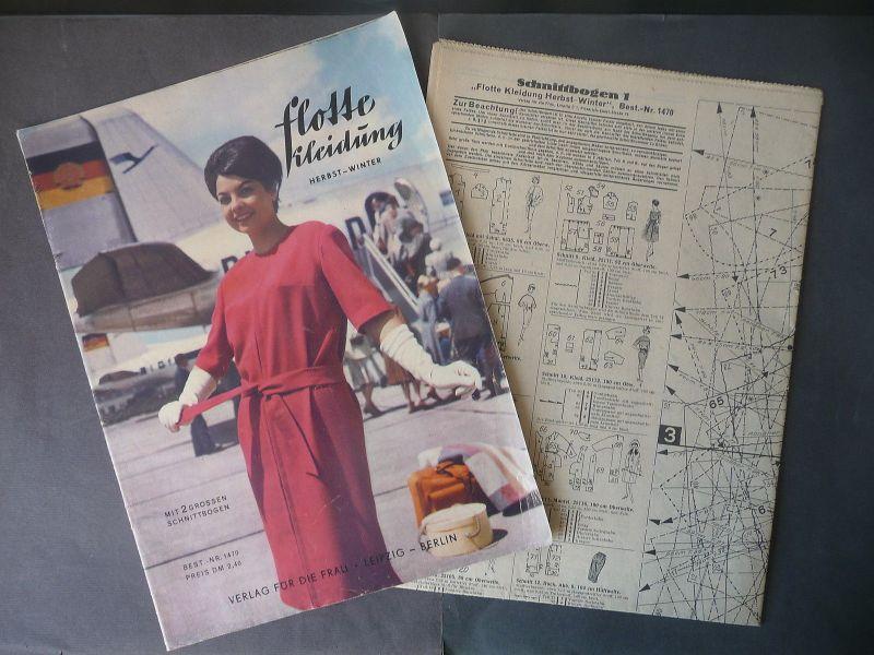 Zeitschrift Flotte Kleidung Nr. 1470 Herbst/Winter 1961 Mode DDR m. Schnittbögen