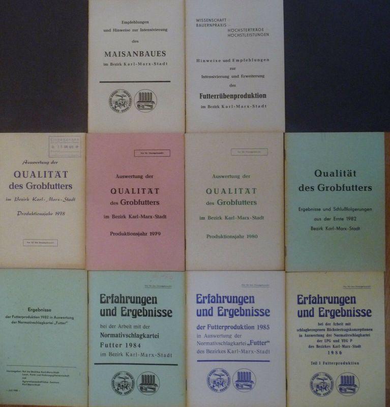 10 Hefte Broschüren Futterpflanzenbau Mais Rüben Bez. Karl-Marx-Stadt 1980er J.