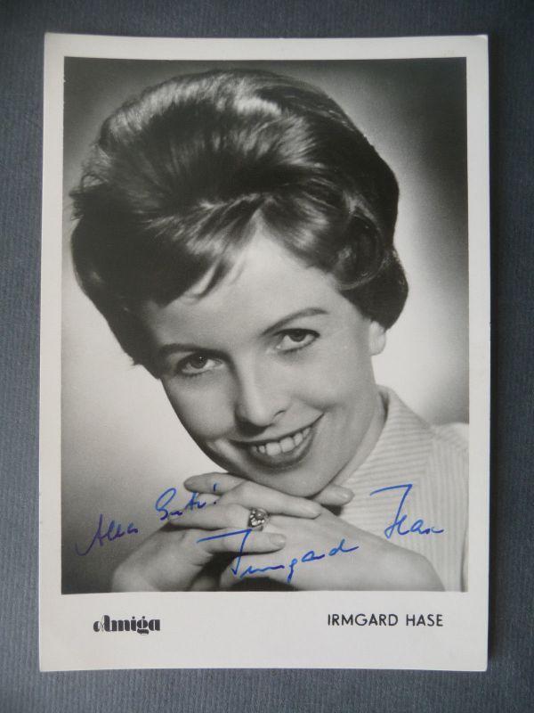 Autogrammkarte Irmgard Hase Schlagersängerin Foto handsigniert