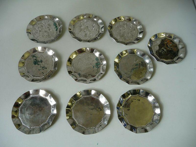 10 Metall-Untersetzer