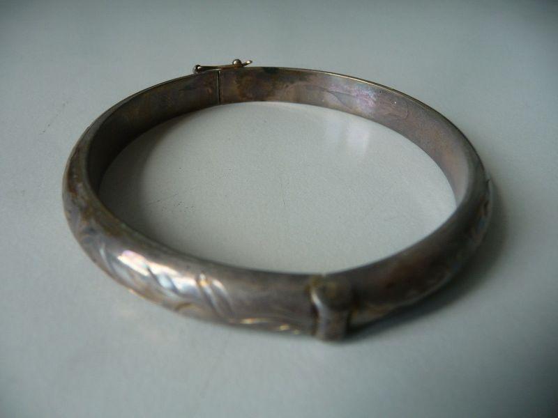 Silberarmreif mit Reliefverzierung Silber 835 (III)